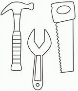 Tools Coloring Pages Construction Doctor Tool Clipart Belt Saw Wrench Worker These sketch template