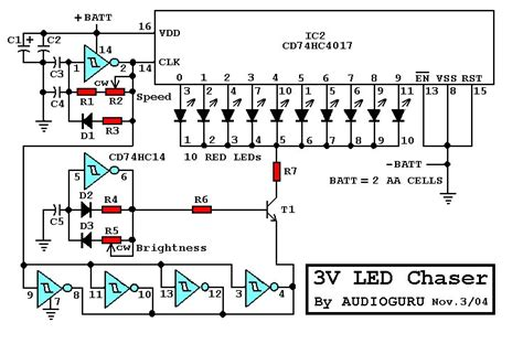 Led Chaser Using Circuits Related Schematics