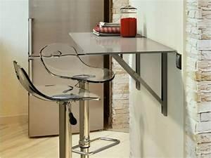 Table Bar Cuisine : table murale pour une cuisine plus sympa ~ Teatrodelosmanantiales.com Idées de Décoration