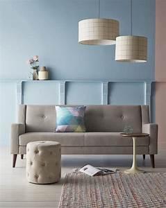 Mur Bleu Pétrole : deco salon gris et bleu ciel ~ Melissatoandfro.com Idées de Décoration