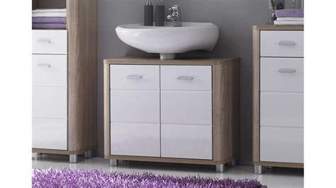 Waschbeckenunterschrank Vital Sonoma Eiche Und Weiß