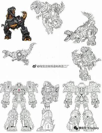 Cyberverse Transformers Grimlock Sheet Evergreen Line Tfw2005