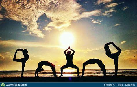 group shot yoga pose asana image  shifanamufeed