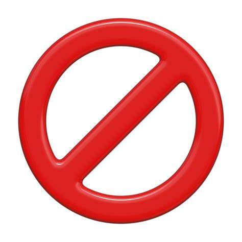 No Red Warning Icon Free Stock Photo - Public Domain Pictures