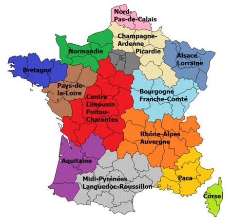 Carte De Avec Les Nouveaux Départements by 233 Coupage R 233 Gions Ou Collage Laregionpyrenees