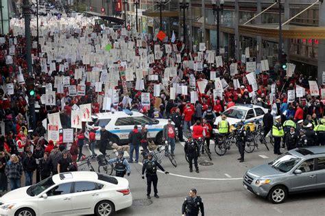 day  chicago teachers strike union  progress