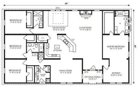 image result  simple  story open floor plan rectangular modular home floor plans ranch