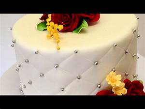 Single Tier Wedding Cake - Small Wedding Cake Ideas - YouTube