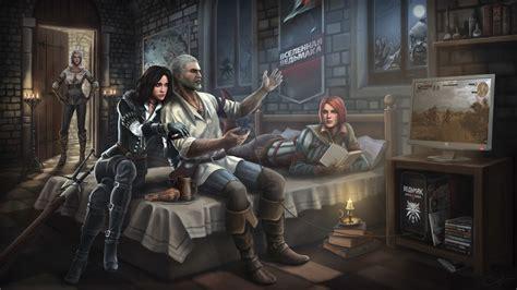 Metro 2033 Wallpaper 1080p Full Hd Wallpaper Geralt Yennefer Ciri Play Triss Merigold Art Desktop Backgrounds Hd 1080p