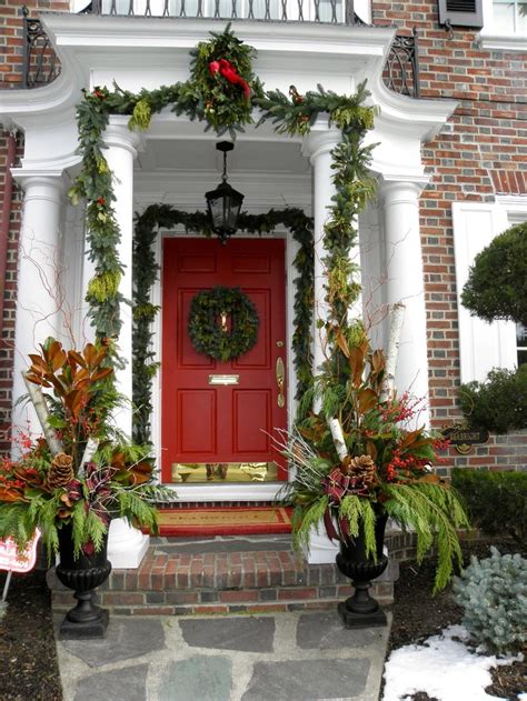 a whole bunch of christmas entry and porch ideas style