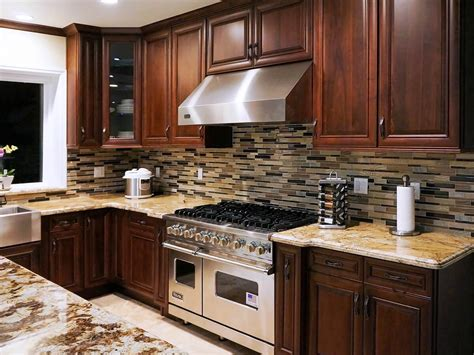 American Walnut  Preassembled Kitchen Cabinets