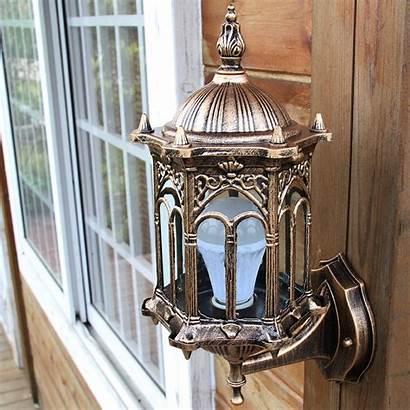 Outdoor Fixture Wall Lantern Exterior Antique Bronze