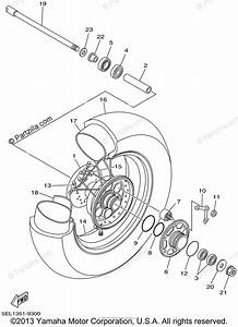 Yamaha Motorcycle 2002 Oem Parts Diagram For Rear Wheel
