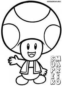 Super Mario Mushroom Coloring Pages