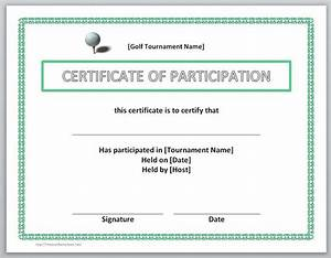 Certificate Of Participation Template Free 13 Free Certificate Templates For Word Microsoft And Open Office Templates