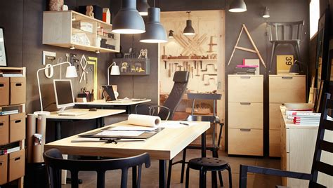 a compact design studio with two workplaces