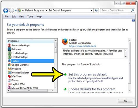 web windows 7 how to set the default browser in windows 7 live2tech