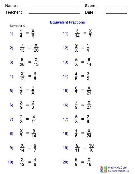 equivalent fraction problems worksheets fraction worksheets pinterest equivalent fractions