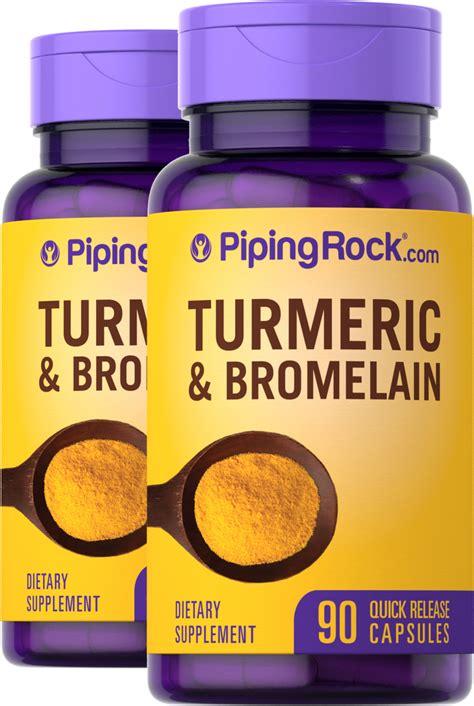 Turmeric & Bromelain, 90 Capsules x 2 Bottles | Benefits ...