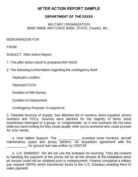army aar template 11 after report templates free word pdf documents free premium templates