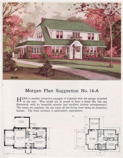 small craftsman bungalow house plans colonial revival floor plans