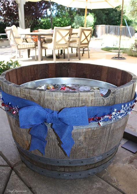 wine barrel tub wine barrel beverage tub outdoor frugelegance