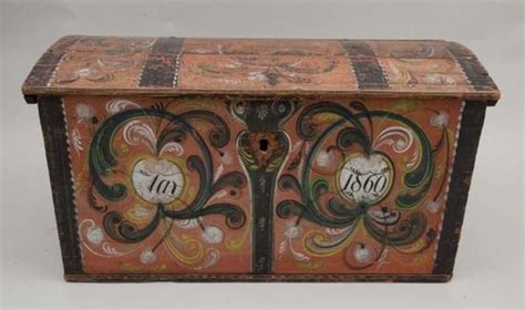 rosemaling on large trunk home sprucin trunks and rosemaling