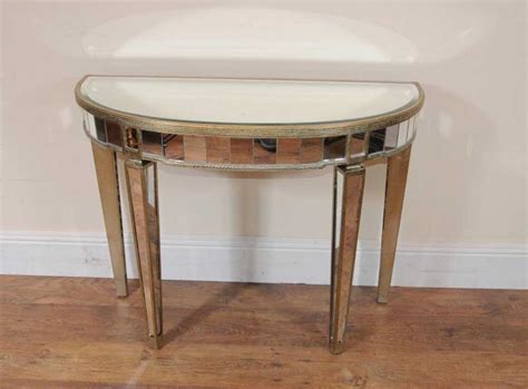 table ronde demi lune deco mirrored console table demi lune tables
