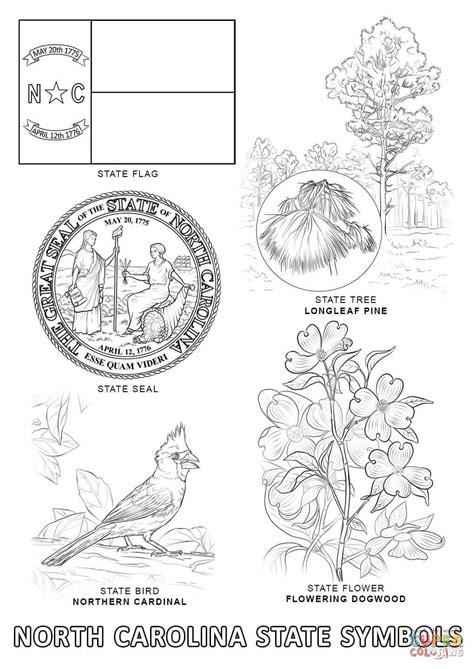 North Carolina State Symbols coloring page | Free