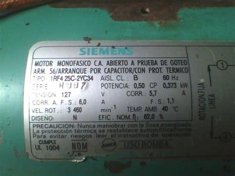 bobinado de bomba monofasica siemens yoreparo