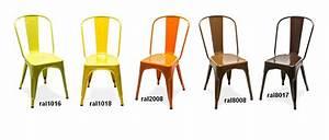 chaise A Tolix jaune Chaise design tolix