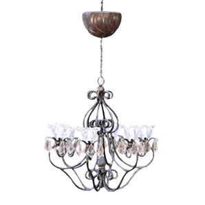 exhart black battery operated gazebo chandelier