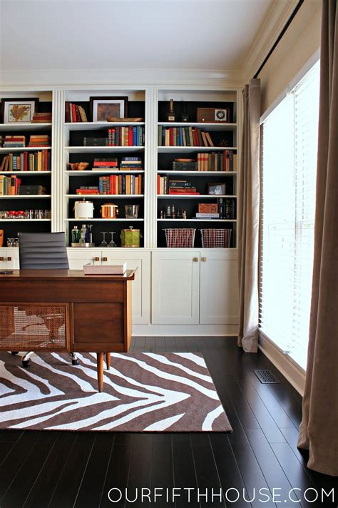 Home Office Bookcases by Home Office With New Built In Bookcases Our Fifth House