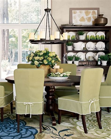 Green Slip Cover by Lovely Dining Room The Green Slip Covers Great Rug