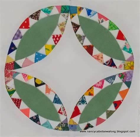 about nancy indian wedding ring quilt block