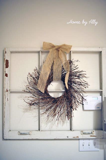 window pane decor windows and wreaths on them i could also make