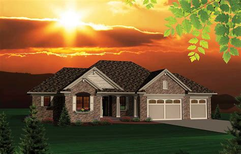 updated  bedroom ranch home plan ah architectural designs house plans