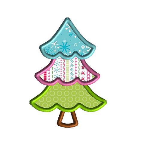items similar to alpine christmas tree applique machine
