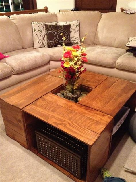 With over a year of wanting to redecorate my living room, i am finally getting around to it! 20 DIY Wooden Crate Coffee Tables | Guide Patterns