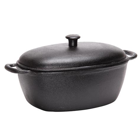cuisiner sans graisse cocotte en fonte brute 32x22 cm tom press