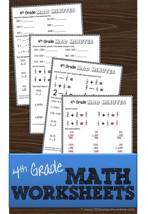 Free 4th Grade Math Worksheets  Free Homeschool Deals