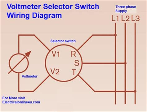 voltmeter selector switch wiring diagram for three phase electrical 4u