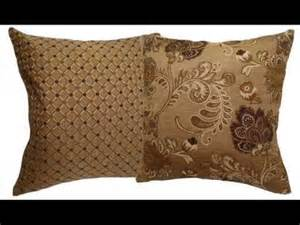 shades of brown dotted brocade decorative throw pillow