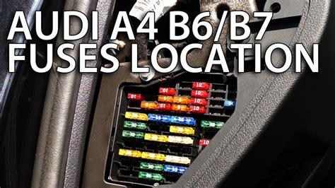 Audi Fuse Box Repair Wire by Where Are Cabin Fuses In Audi A4 B6 B7 Automotive