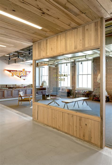 However when it's not your home office, there is a limit to what decor you can use. Exposed Brick Walls & Concrete Define The New Yelp Headquarters