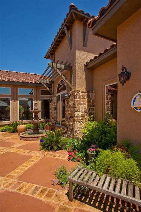 Tuscan Style Homes With Stone Exterior Patio Mediterranean