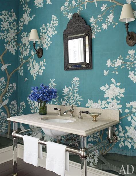 blue chinoiserie wallpaper design ideas
