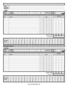 printable basketball stat sheet   track