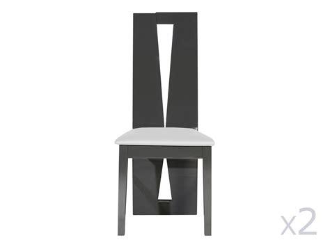 hauteur meuble haut cuisine chaise de salle à manger en bois lot de 2