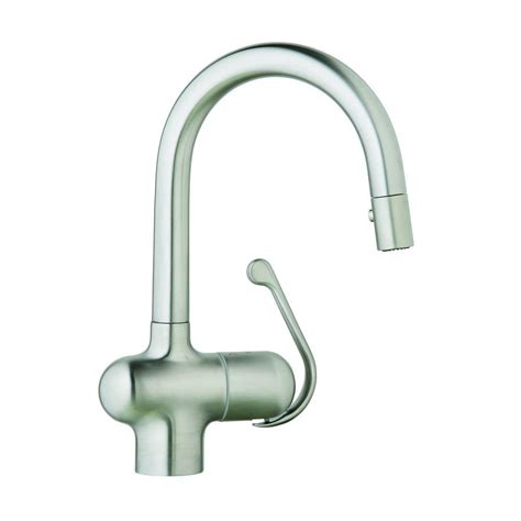 stainless steel kitchen faucet with pull spray grohe ladylux pro single handle pull out sprayer kitchen